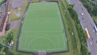 Artificial hockey pitch testing at The Salesian School