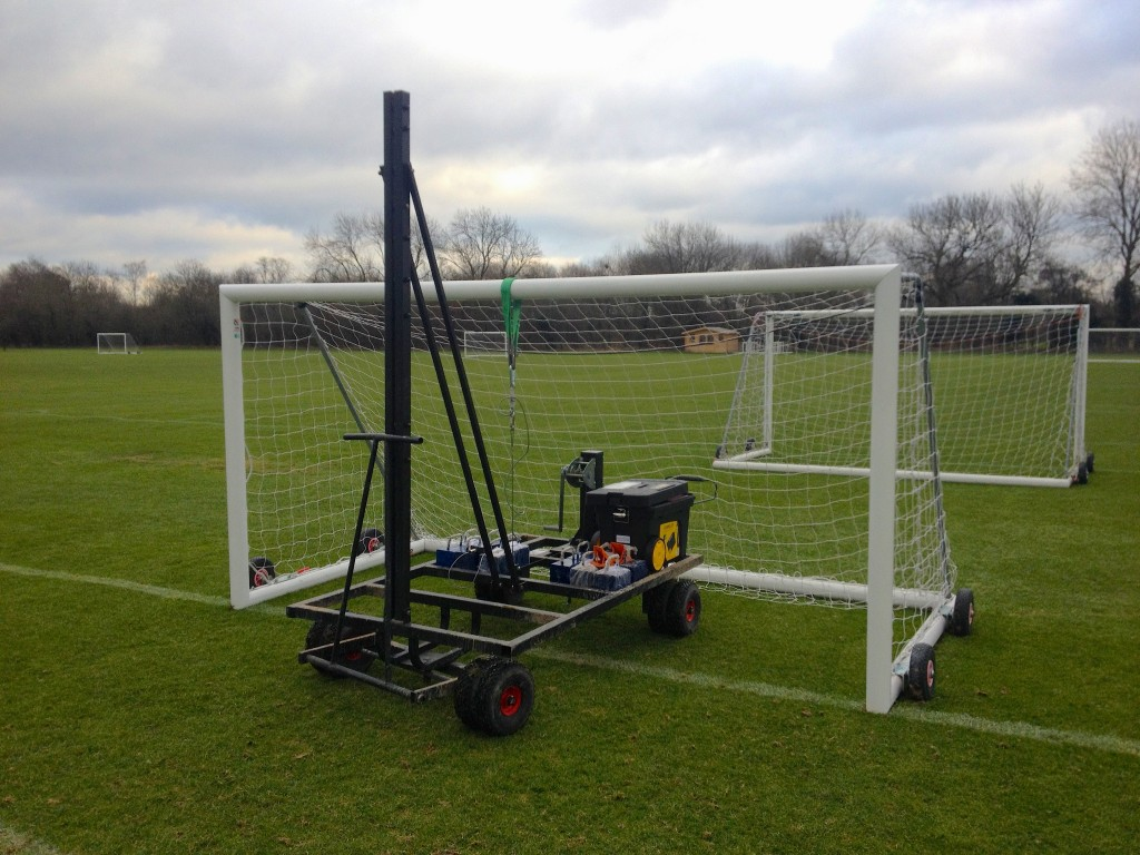 Goalpost testing to BS 8462:2005 strength requirements