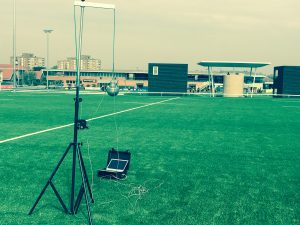 EN1177 Testing - critical fall height of artificial turf pitches